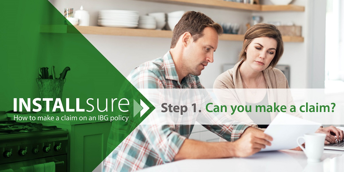Installsure how to make a claim step one